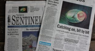 Bitcoin Feature Story Hits Front Page of Keene Sentinel!