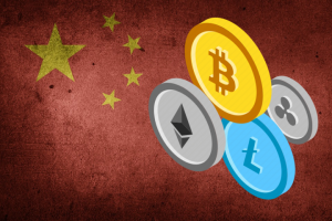 chinese flag and crypto